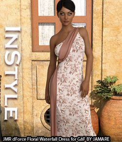 InStyle- JMR dForce Floral Waterfall Dress for G8F