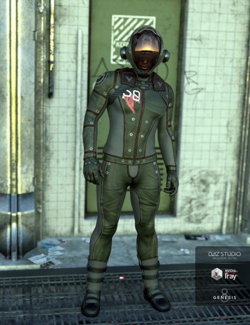 Sci-Fi Task Force Outfit for Genesis 8 Male(s)