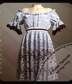 Floral Eclectic for the Little Darling Dress for G8F