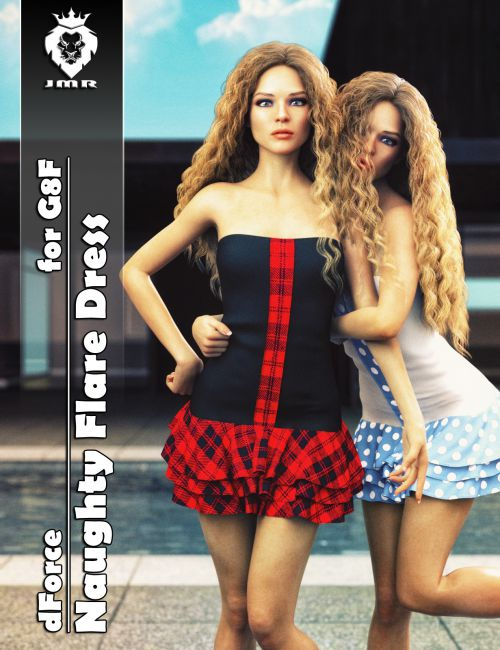 JMR dForce Naughty Flare Dress for G8F