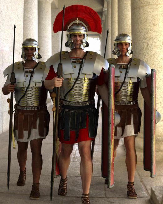 dForce Classic Roman Armor for Genesis 8 Male