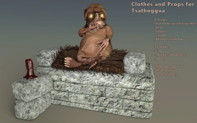 Clothes and Props for Tsathoggua