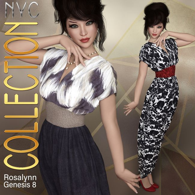 NYC Collection: dForce Rosalynn Outfit for Genesis 8 Female