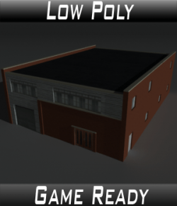 Low Poly Factory Building 27 - Extended Licence