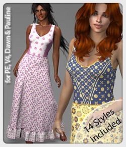 Mila Dress and 14 Styles for V4, PE, Dawn and Pauline