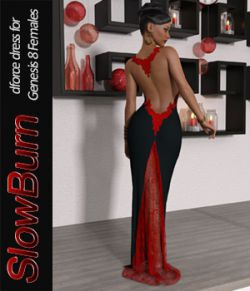 SlowBurn dForce dress for Genesis 8 Female(s)