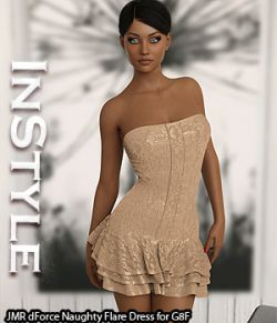 InStyle- JMR dForce Naughty Flare Dress for G8F