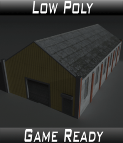 Low Poly Factory Building 28- Extended Licence