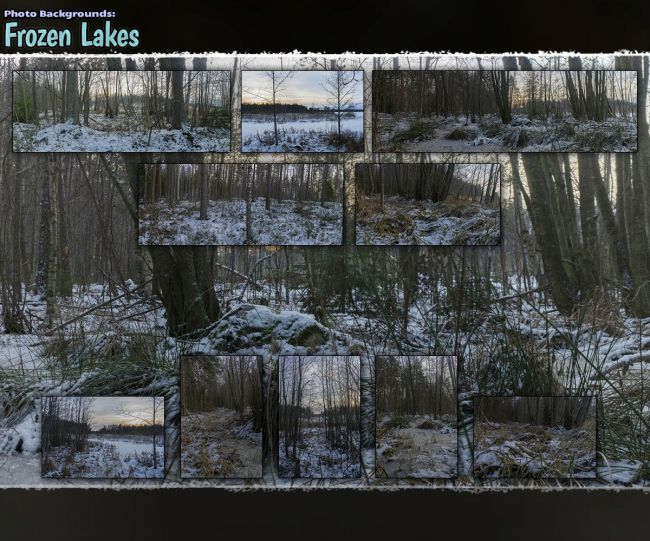 Photo Backgrounds: Frozen Lakes