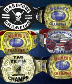Championship Belt for V4 (Poser 7+)
