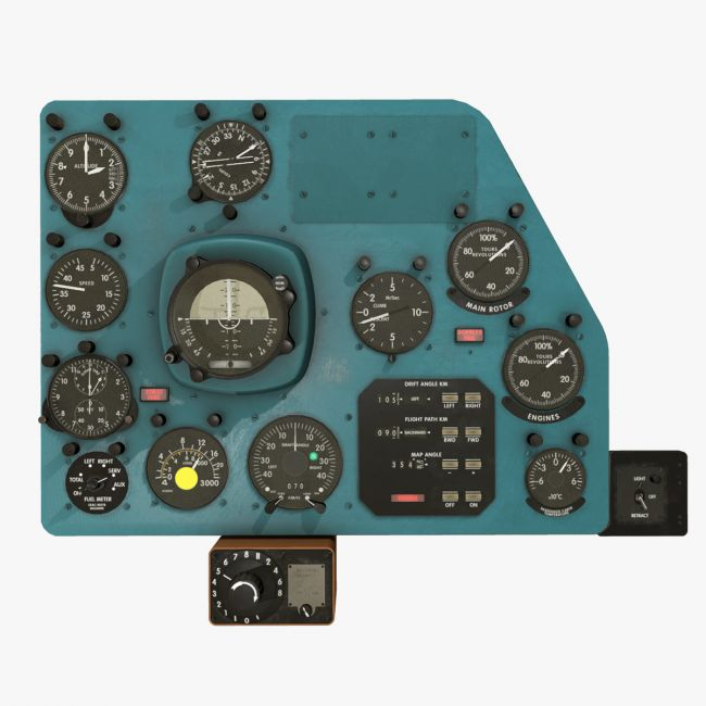 Mi-8MT Mi-17MT Right Panels Board English - Extended LIcense