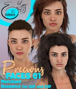 Precious Faces 01 for G8F and G3F - A Merchant Resource