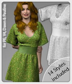 Eve Dress and 14 Styles for V4, PE, Dawn and Pauline