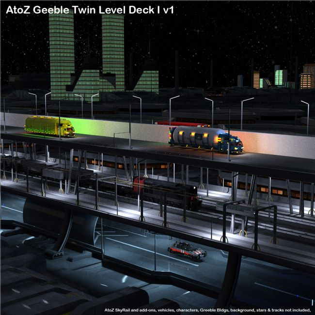 AtoZ Geeble Elevated Twin Deck I v1