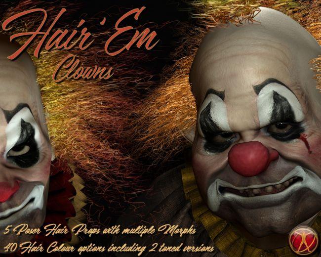Poser HairEm 1 : Clowns