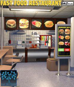 Fast Food Restaurant for Daz Studio
