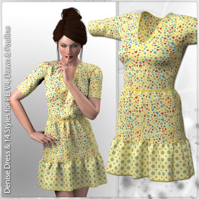 Denise Dress and 14 Styles for V4, PE, Dawn and Pauline