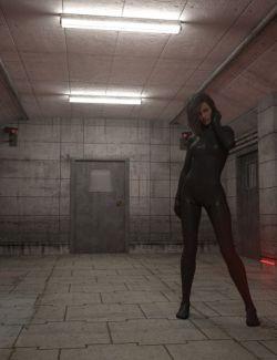 Sci-Fi Prison Hallway