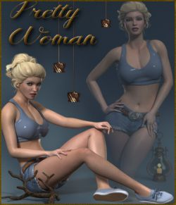 Pretty Woman Poses for La Femme