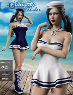 dForce Naughty Sailor Outfit Set for Genesis 8 Female(s)