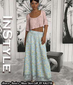InStyle- dforce- Basics- Maxi Skirt G8F