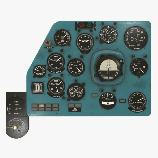 Mi-8MT Mi-17MT Left Panels Board English - Extended License
