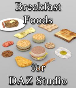 Breakfast Foods - for DAZ Studio
