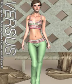VERSUS- FADS Yoga Pants & Sports Bra for La Femme and Poser 11