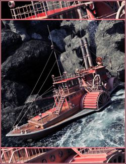 Steampunk Paddle Boat