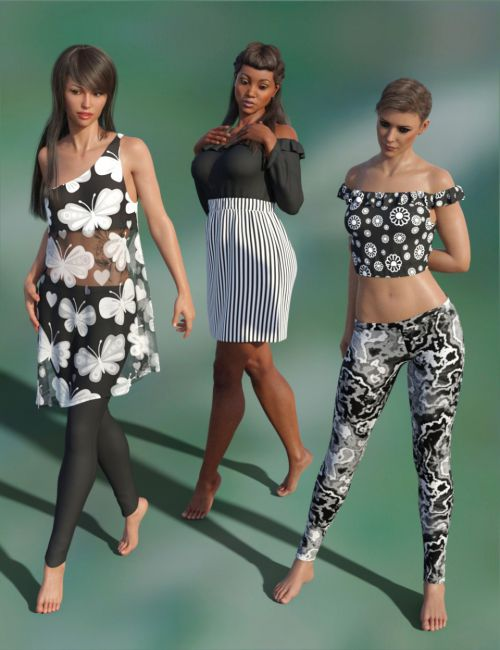 dForce Summer Wardrobe for Genesis 8 Female(s)