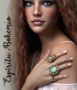 Espiritu Bohemio Rings for Genesis 8 Females