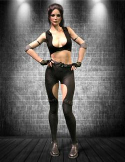 X-Fashion Combat Outfit for Genesis 8 Female(s)