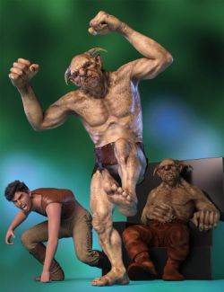 Fickle Poses and Expressions for Troll HD and Genesis 8 Male