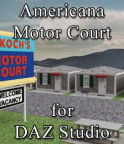 Americana Motor Court for DAZ Studio