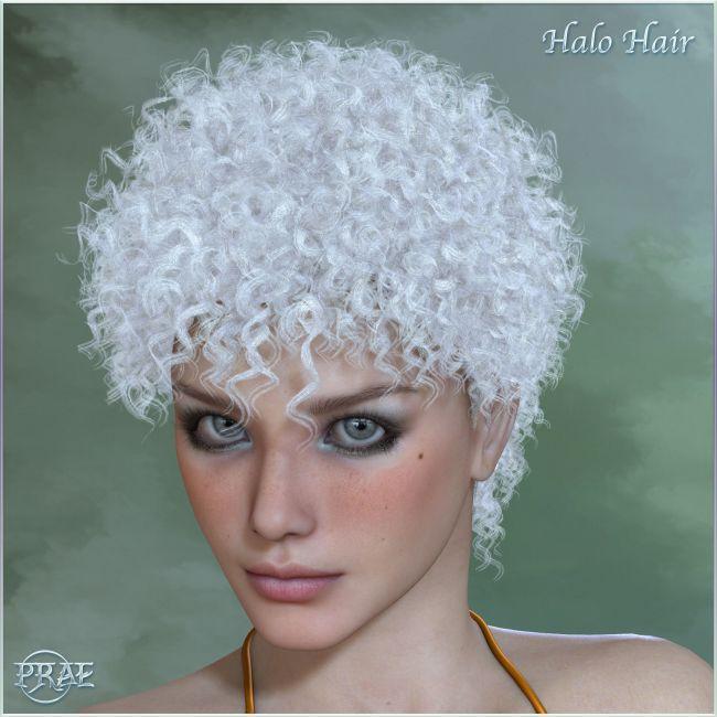 Prae-Halo Hair For V4/M4 and La Femme for Poser