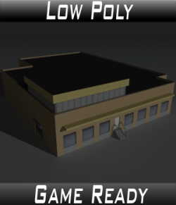 Low Poly Factory Building 18 - Extended Licence