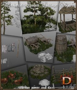 Medieval Small Village Objects Set