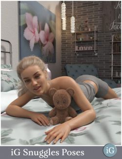iG Snuggles Pose Collection for Genesis 8 Female & Male