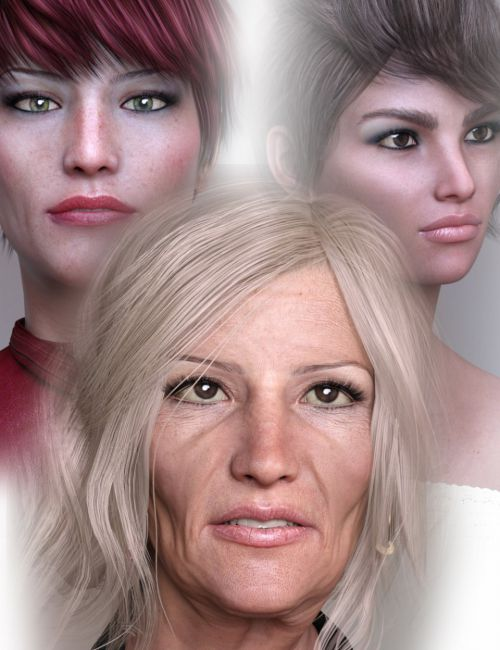 Mother and Daughters HD for Genesis 8 Female