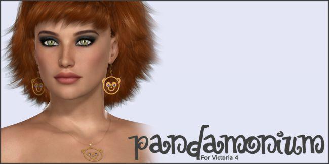 Pandamonium Earrings and Necklace V4