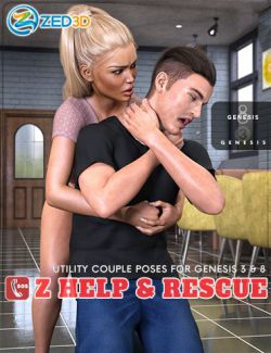 Z Help and Rescue Poses for Genesis 3 and 8