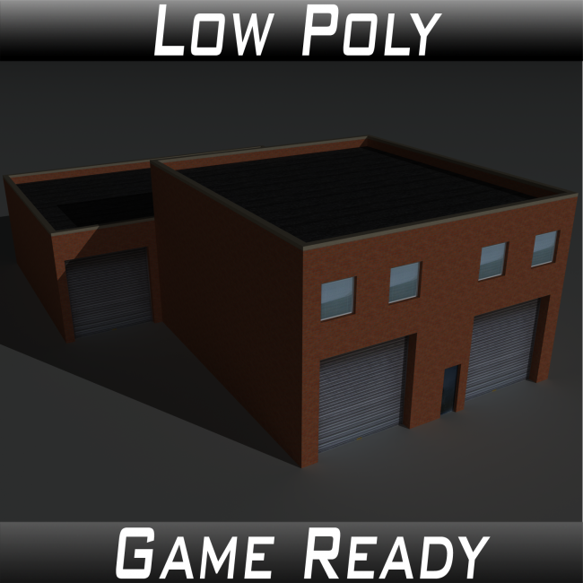 Low Poly Factory Building 19 - Extended Licence