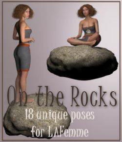 On The Rocks - Poses for La Femme