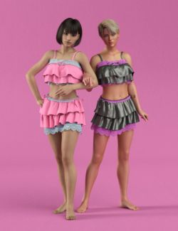 dForce Retro Ruffles for Genesis 8 Female(s)