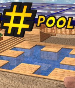 The Hashtag Pool  for Poser 7+