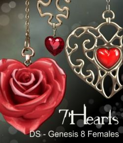 7Hearts Jewelry for Genesis 8 Females