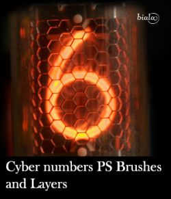 Cyber Numbers PS Brushes and Layers