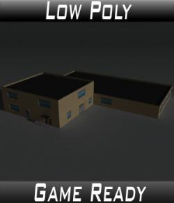 Low Poly Factory Building 36 - Extended Licence
