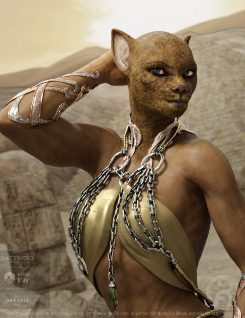 Ancient Bastet for Genesis 8 Female