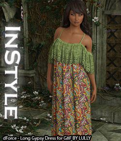 InStyle- dForce- Long Gypsy Dress for G8F